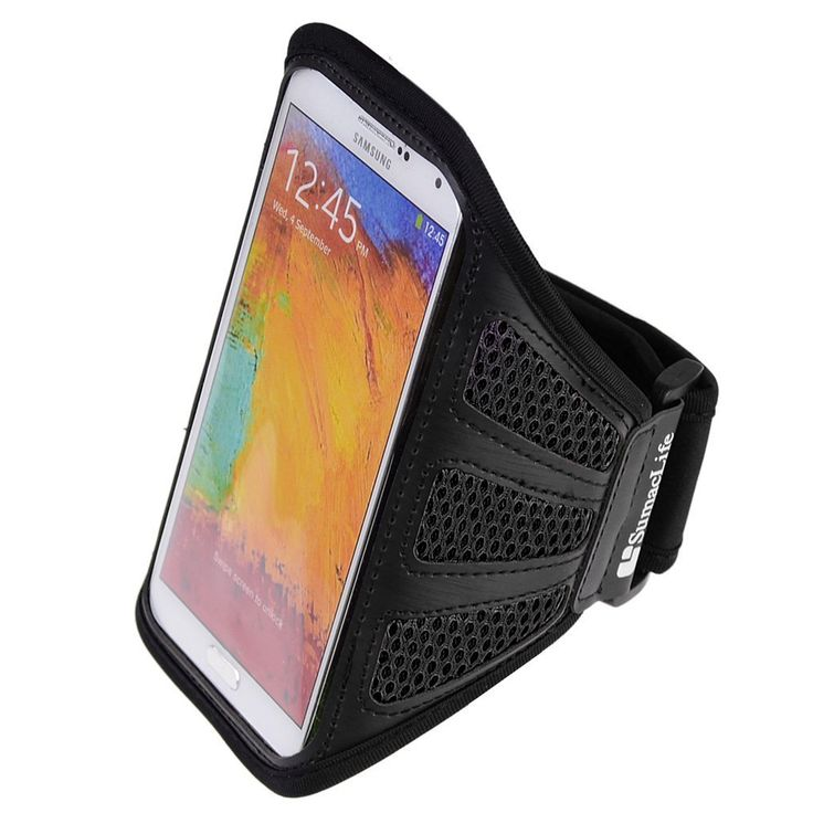 SumacLife Mesh Workout Armband for BlackBerry Leap / BlackBerry Z30 (Black). SumacLife armband; Stylish, lightweight and durable enough to hold up against any workout. Mesh exterior construction allows air flow to circulate to avoid any moisture build up. Neoprene backing and adjustable strap compliment your arm with a soft and gentle texture. Clear plastic window protects your phone while still allowing full touch screen functionality. Features a side earphone cord excess holder and...