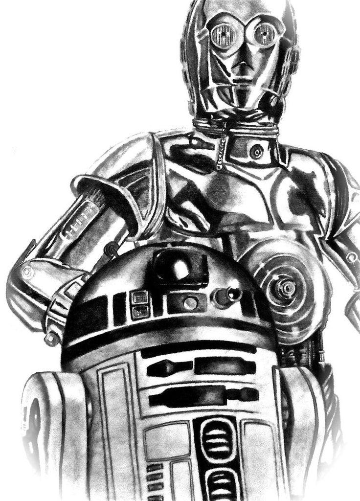 R2d2 Black And White R2D2 - C3PO | INK | Pi...