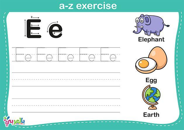 اوراق عمل رياض اطفال الحروف انجليزي تعليم حروف الانجليزية للاطفال بالصور بالعربي نتعلم Letter Worksheets For Preschool Arabic Alphabet For Kids Arabic Kids