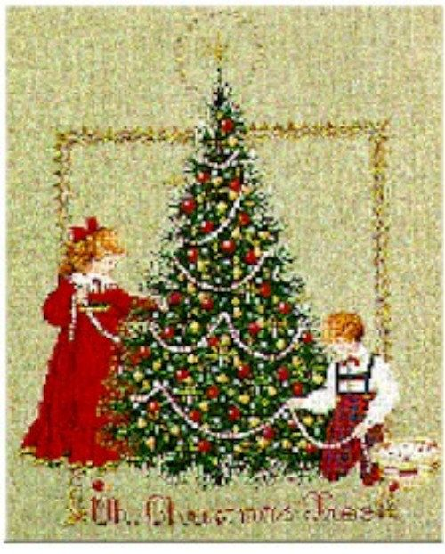 oh christmas tree counted cross stitch pattern  lavender and lace by marilyn leavitt