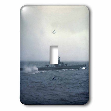 3dRose Pacific Ocean, US submarine during WW II - XX01 CSL0001 - Charles Sleicher, 2 Plug Outlet Cover