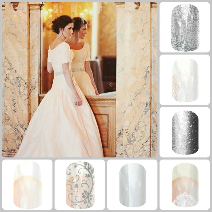 Trying to decide how to do your nails for your wedding? Try Jamberry! You can have the traditional French Tips or something a little different. Wish they were around for my wedding! My nails were chipping by the first day of our honeymoon! :(