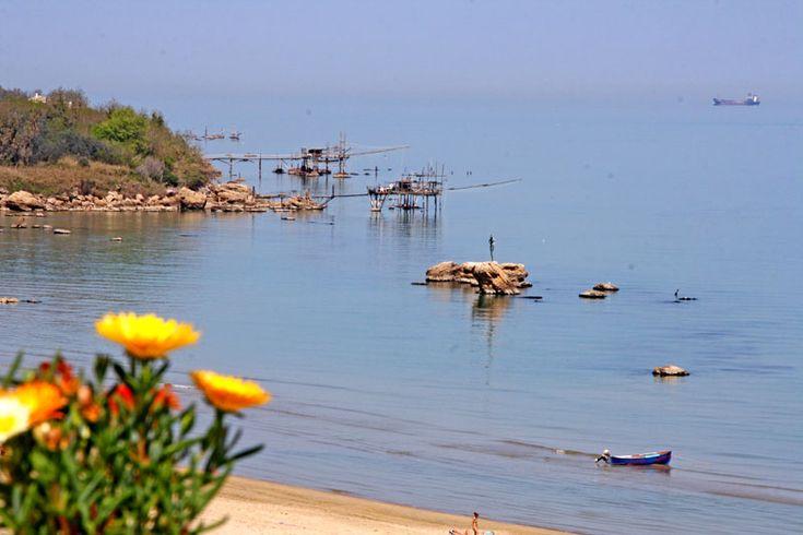 Trabocco in Vasto Marina, Abruzzo Full details: www.resources.immobiliarecaserio.com  #coast #trabocco #Vasto #Marina #Abruzzo #Italy