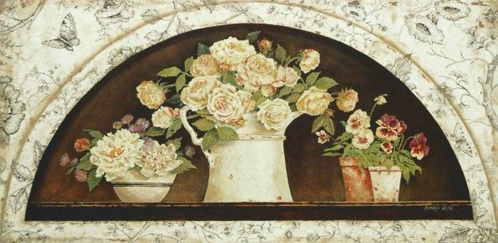 Disc-French Creamware - Roses (Kathryn White)