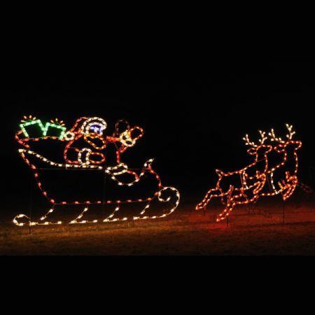 1000 images about santa sleigh and reindeer outdoor. Black Bedroom Furniture Sets. Home Design Ideas