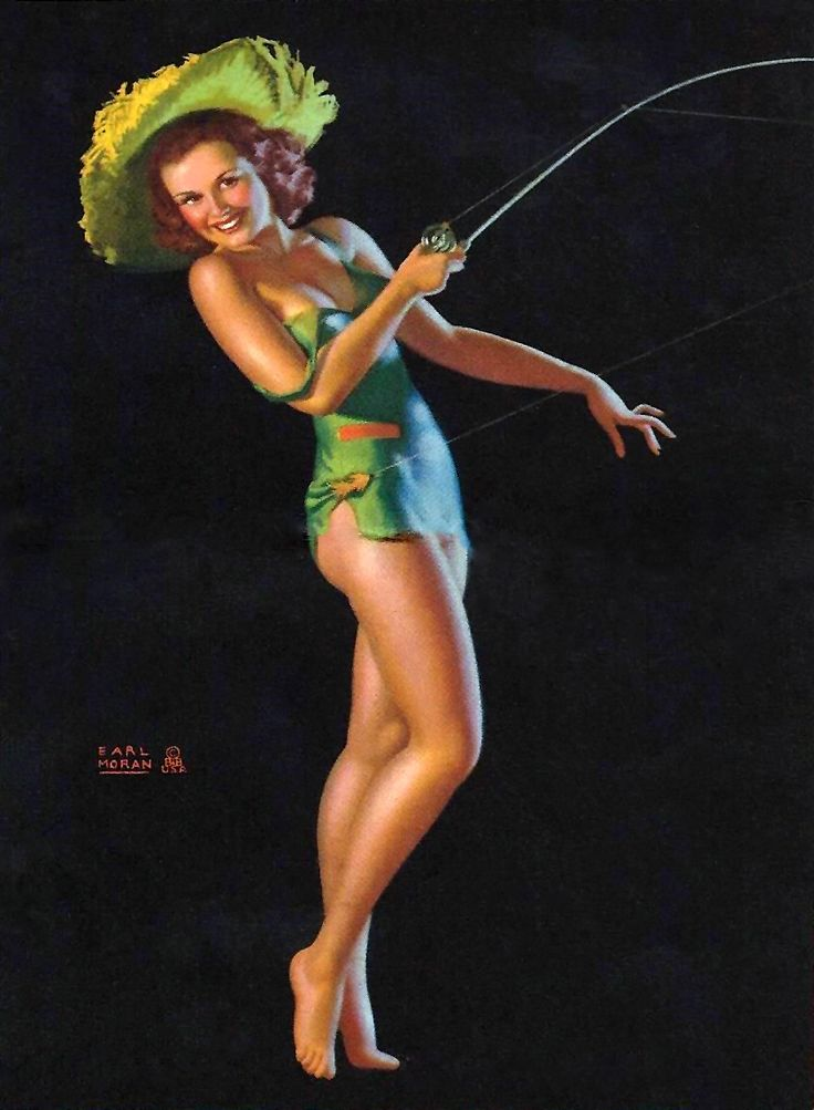 "Earl Moran - ""A Good Catch"" - Marilyn Monroe his favorite!"