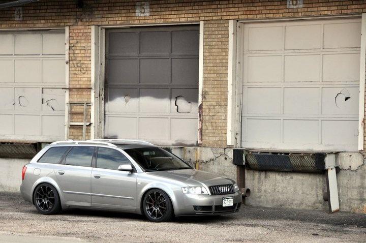 Audi A4 side view grey w/ black rims