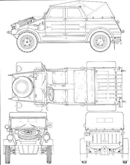 41 best blueprints images on pinterest technical drawings volkswagen kubelwagen type 82 malvernweather Image collections