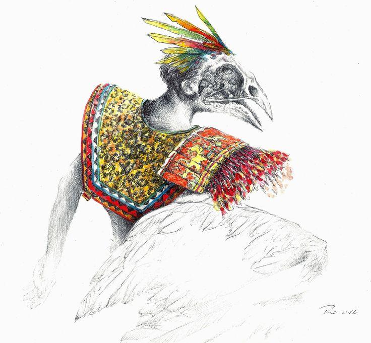 El hombre Pájaro,  The bird man