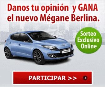 Participa y llévate el fantástico y nuevo coche de Renault, el Mégane Berlina totalmente gratis. No pierdas la oportunidad y participa. ¡Mucha Suerte!