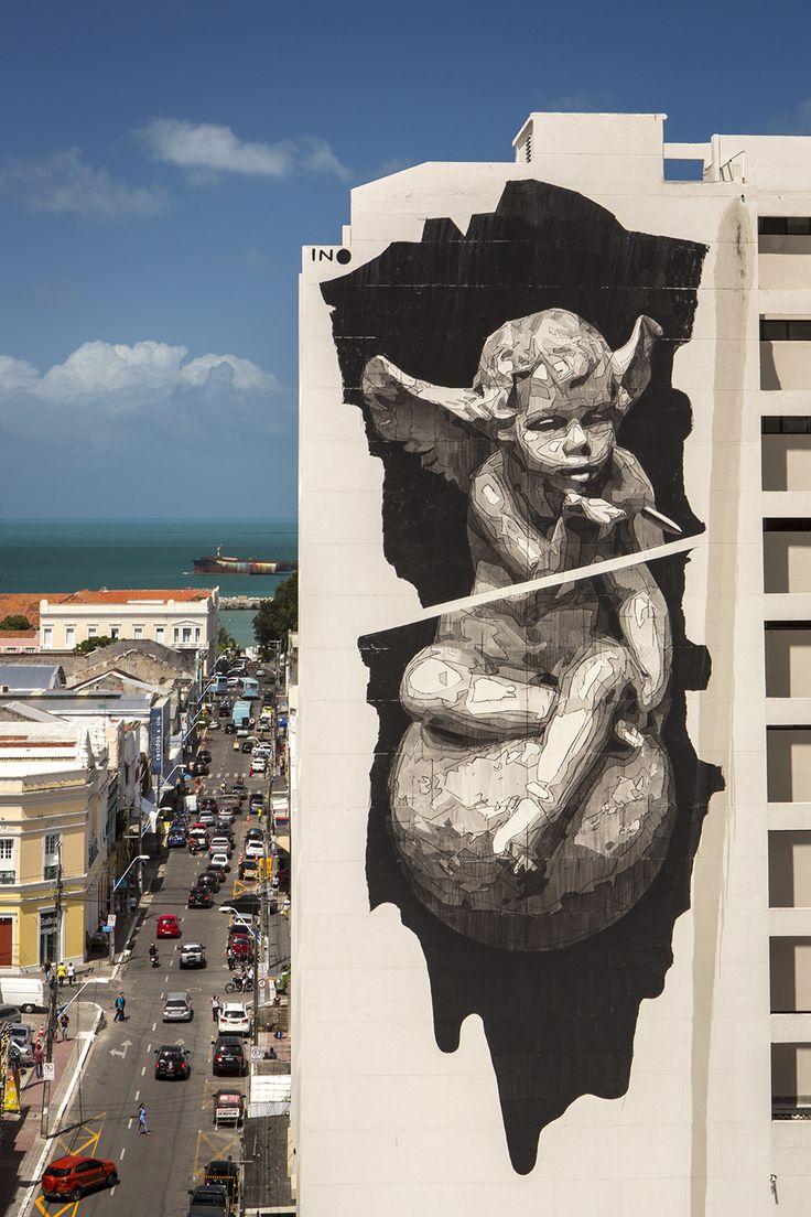 """""""Heaven & Hell on Earth"""" by iNO in Fortaleza, Brazil"""