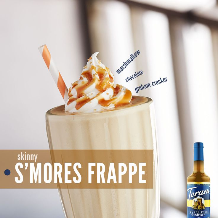 Skinny S'Mores Frappe // Made with Torani