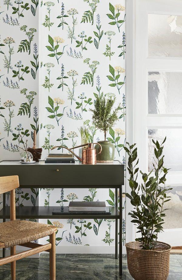 KÖKSVÄXTER Scandinavien designers II | Wallpapers - Kitchen | I butik: 15 juni 2016 | borastapeter.se | via trendspanarna