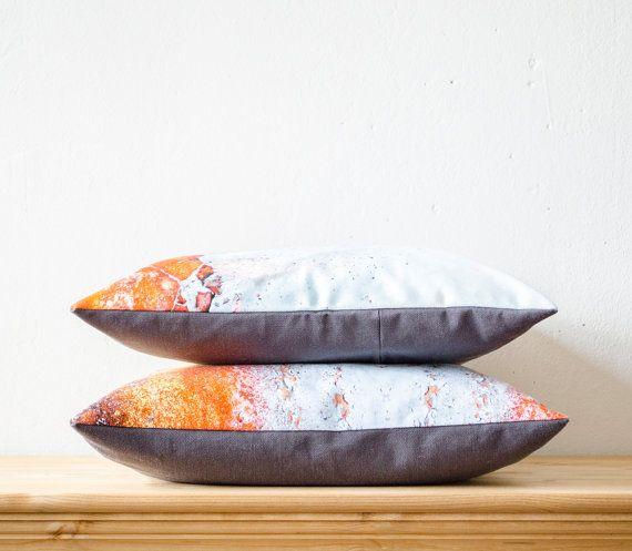 Set of Two Modern Ecofriendly 16x16 inch 40x40cm Cotton Throwpillow Pillowcases