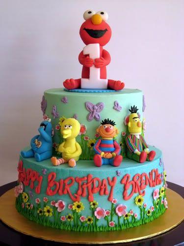 elmo birthday cake: