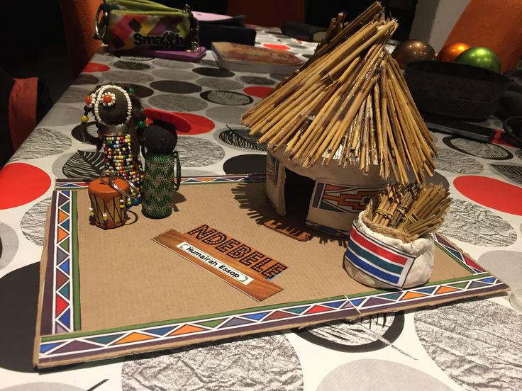 Traditional Ndebele hut