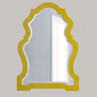 Horchow -- Yellow-Framed Mirror