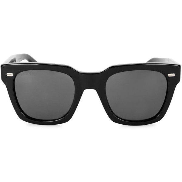 Mens Wayfarer Gucci Black Wayfarer-style Sunglasses (2 345 SEK) ❤ liked on  Polyvore featuring men's fashion, men's accessories, men's eyewear, ...