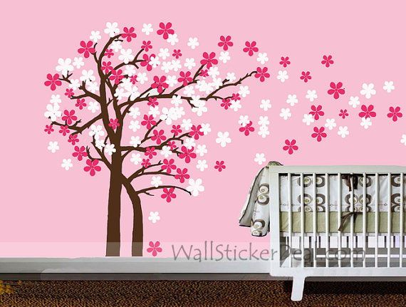 Trailing Cherry Blossom Tree Wall Stickers Part 59