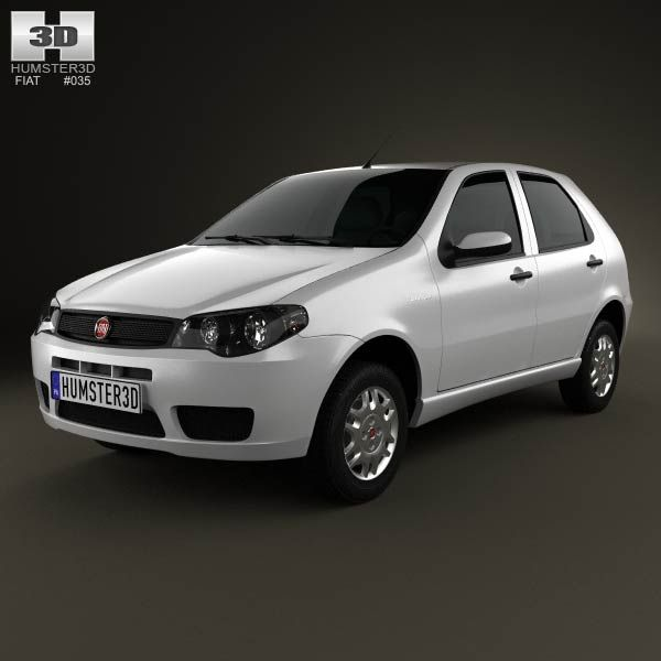 Fiat Palio Fire Economy 2012 3d model from humster3d.com. Price: $75