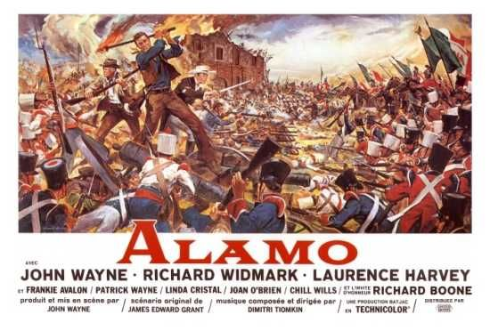 """The Alamo"" is a war movie released in 1960 about the famous siege of 1836. It was directed and produced by John Wayne."