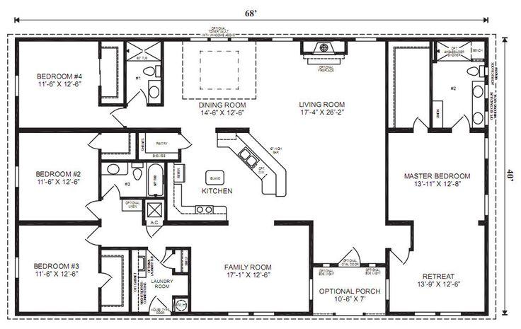 4 bedroom 3 bath ranch plan Google Image Result for http://www.jachomes.com/userfiles/images/Floor%2520Plans/Modular/OakHill_Sales_Print.jpg