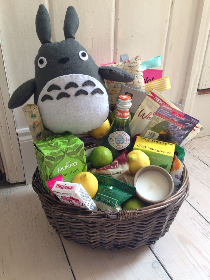 Wellbeing basket for someone who needed some TLC for their soul on their birthday :) put together and some bits made by me - Chloe.