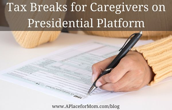 Democratic presidential candidate Hillary Clinton is proposing new tax breaks for caregivers to help with the expenses related to caring.