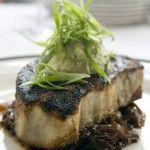 Blackened Swordfish Steak with Caramelized Onions