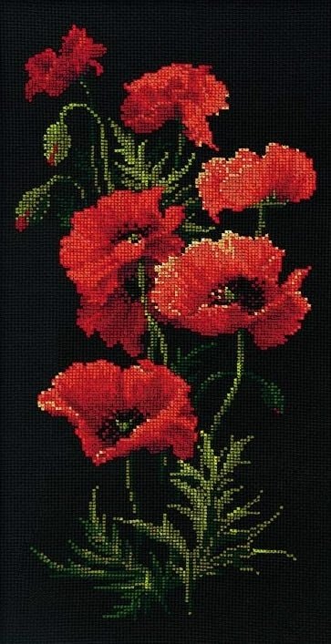 The Poppies. Not sure if this is beadwork or needlepoint, but it is very lovely! Curleytop1.