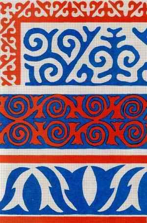 Киргизская вышивка