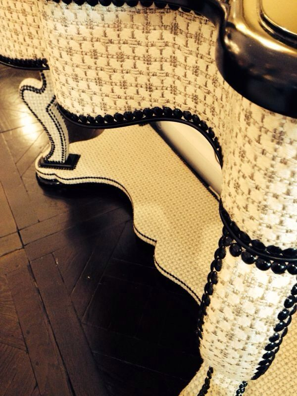 Our fabric collection DIVA perfectly fits the elegant upholstered pieces by MIS EN DEMEURE, on show at Maison&Objet.