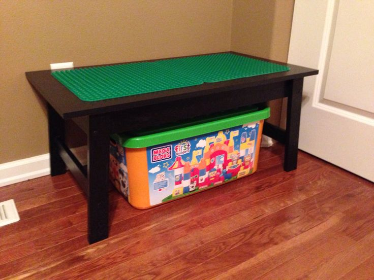 $18 Coffee Table From Walmart + 2 $15 Duplo Building Plate From Target  Couple Bucks For
