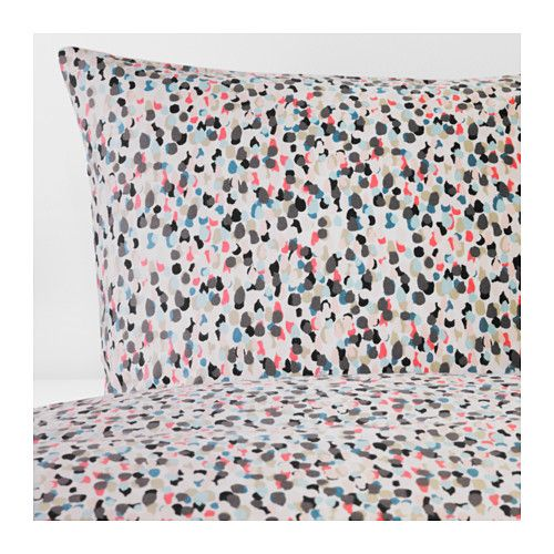 IKEA SMÅSTARR Quilt cover and 4 pillowcases Dotted/multicolour 200x200/50x80 cm