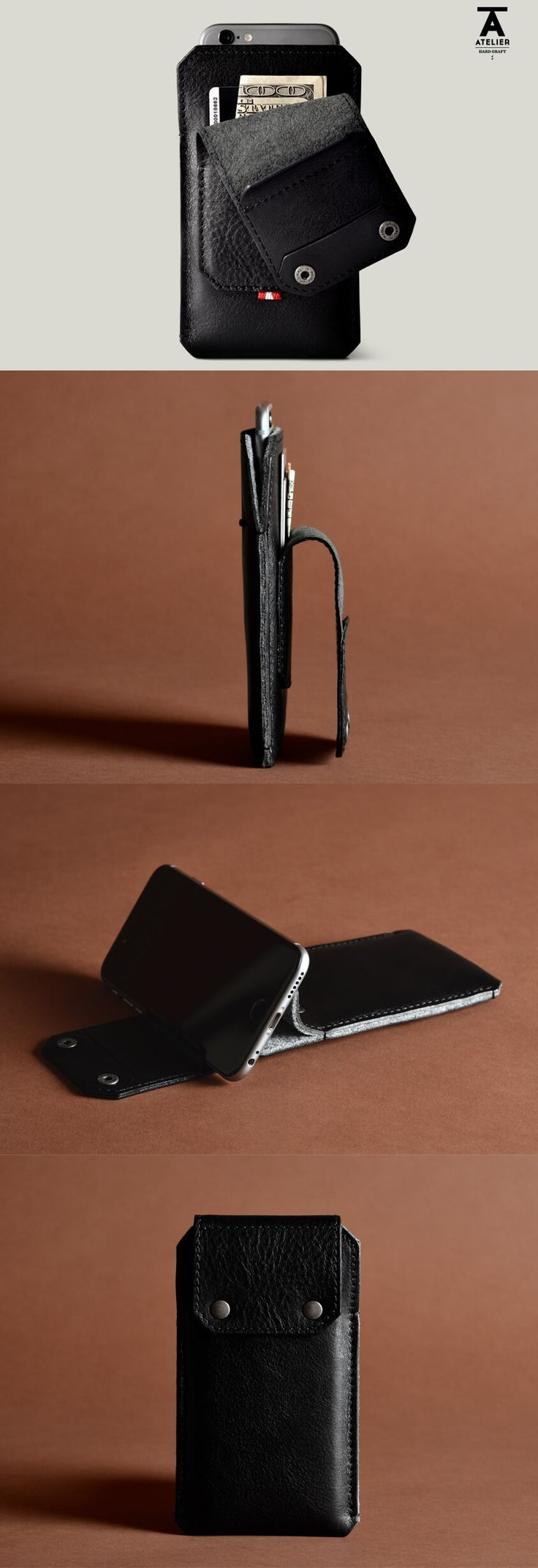 This phone case is absolutely perfect for air travel. Take your phone, wallet, and possibly car keys out all together when going through the security line. Atelier All in One Phone Case & Stand by @hardgraft #leather #nattyguy #spon