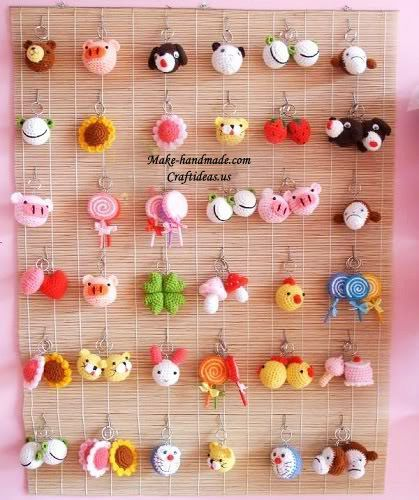 crochet beauty and cute key chains | make handmade, crochet, craft: