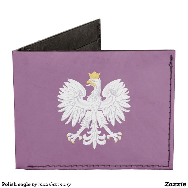 Polish eagle billfold wallet