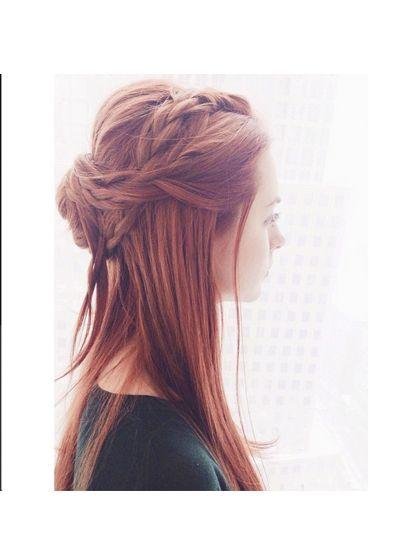 Best Instagrams - braided half updo