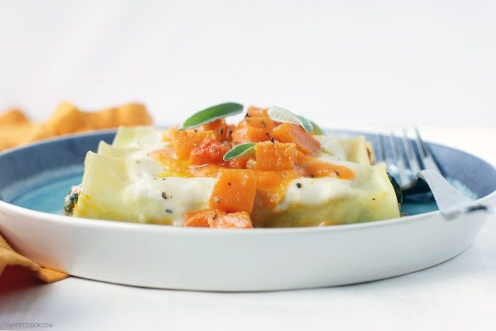 This easy-to-make vegetarian ricotta, spinach and pumpkin cannelloni turns comfort food into a special meal perfect to celebrate fall season.