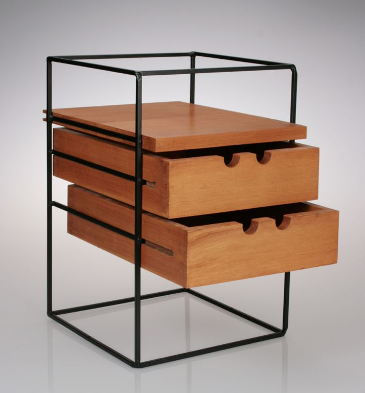 Unusual Two Drawer Widdicomb Box   From a unique collection of antique and modern night stands at http://www.1stdibs.com/furniture/tables/night-stands/