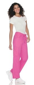"""Baby Phat Women's """"The Scrub Pant"""" 26034  This slim fitting, moderate flare leg pant has an elastic drawstring waist, two side inset pockets, double cargo pockets, and a scissor pocket finished with a tonal feline logo embroidery. Side vents at bottom leg openings complete the picture. Inseam length 31"""".  Price:$22.00 #babyphat #scrubs #nurses #scrubcouture"""