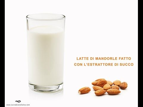 Come Fare il Latte di Mandorla con l'Estrattore di Succo - Veg Raw Food - YouTube