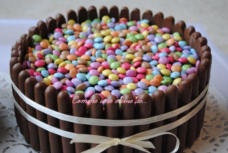Gâteau de Paques, moelleux chocolat noisette et friandises