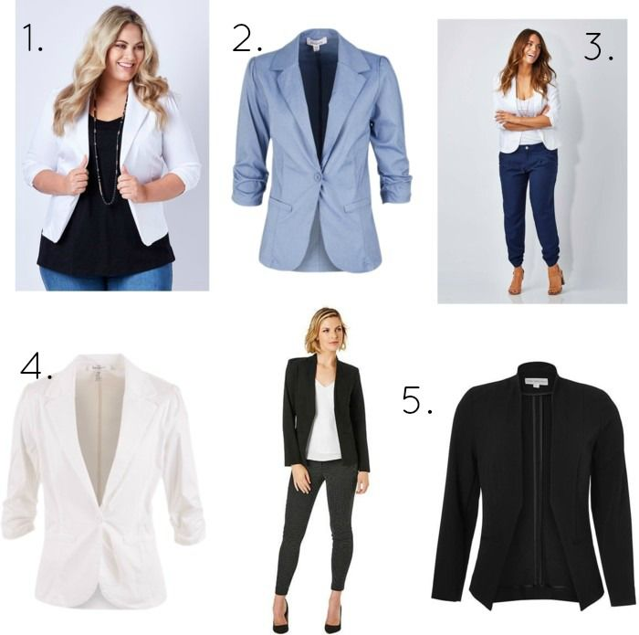 How to style a basic tee with a fitted blazer
