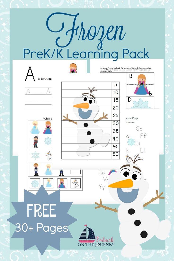 Your little FROZEN fans will love this free printable for preschool and kindergarten. | embarkonthejourney.com