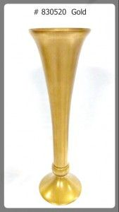 Gold Glass vase 24 inches tall