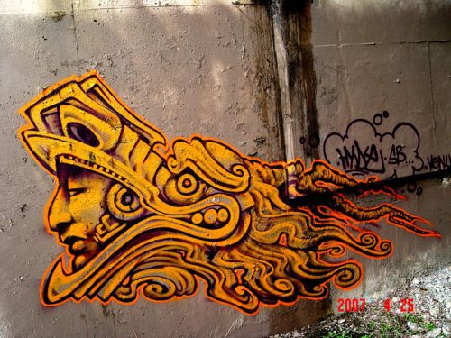 1000 images about aztec mayan graffiti on pinterest for Aztec mural tattoos