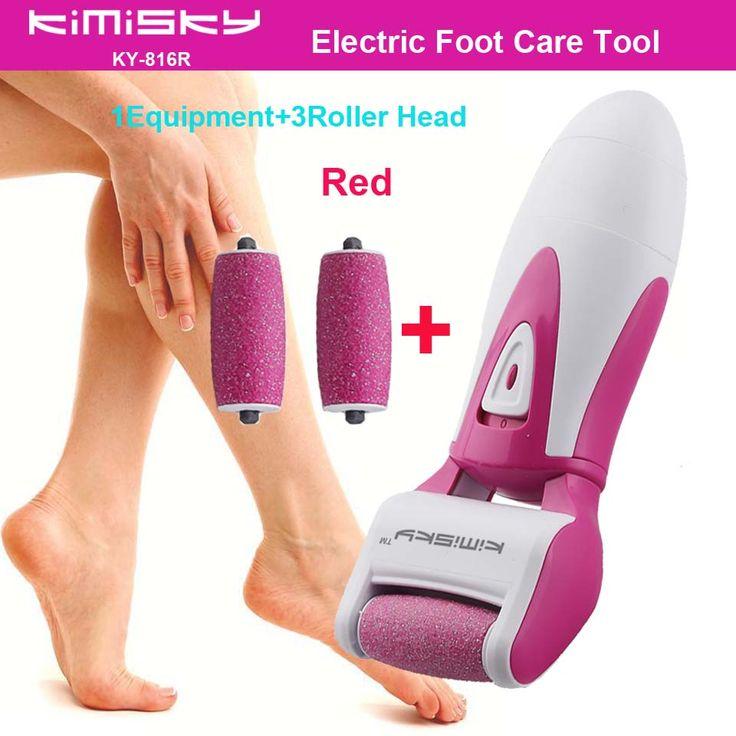 Red smooth starke elektrische pediküre werkzeug Fußpflege Reinigung Peeling Fußpflege Werkzeug + 3 stücke walzenköpfe Für scholls funktion