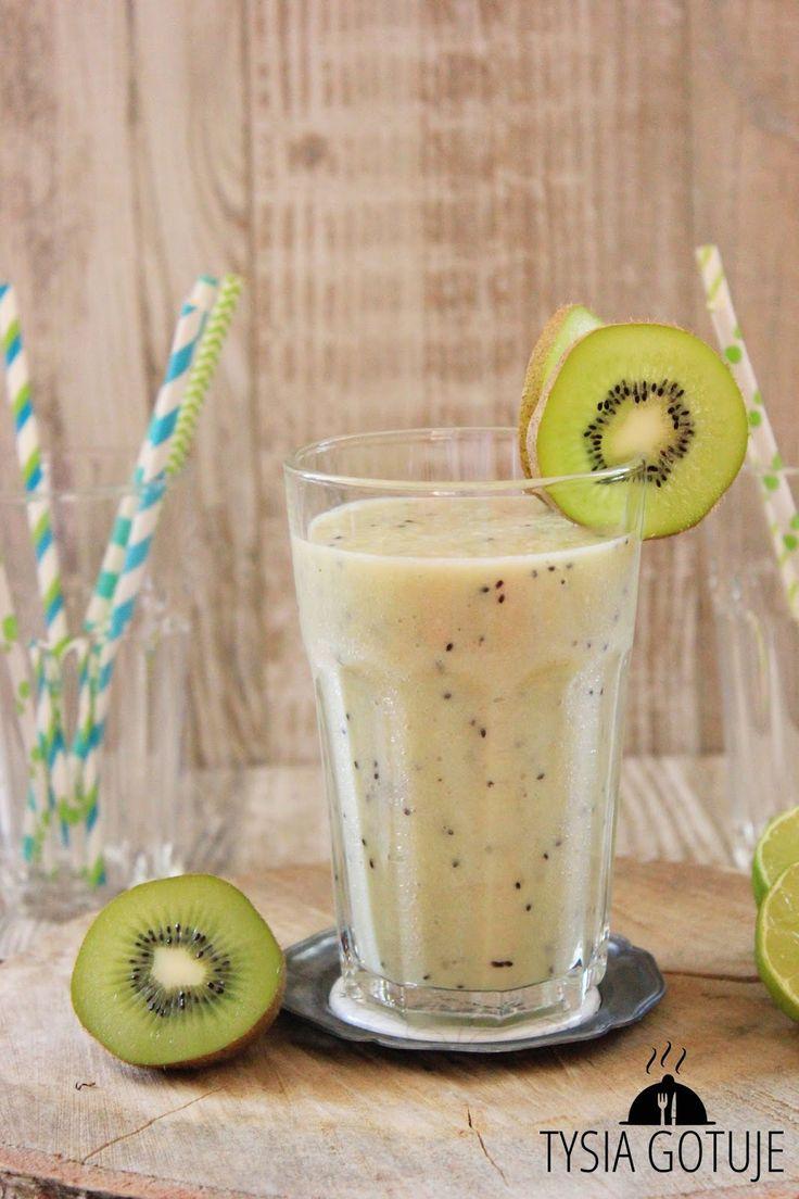 Koktajl z kiwi, gruszki i limonki | Tysia Gotuje