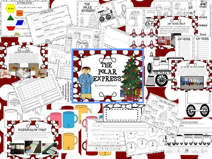 The Polar Express by Chris Van Allsburg Math and Literacy Extensions.  It has about a weeks worth of activities, printables that continues to teach your students through the Christmas season.